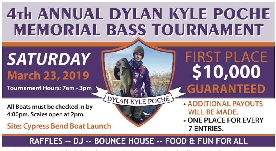 4th Annual Dylan Kyle Poche' Memorial Bass Tournament