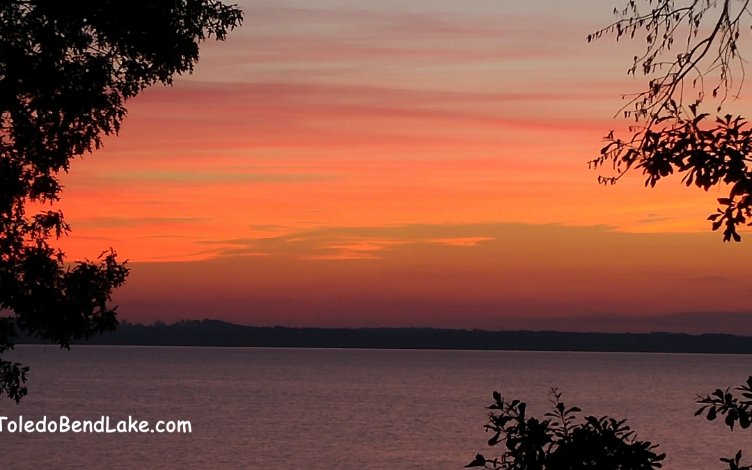 Sunrise on Toledo Bend