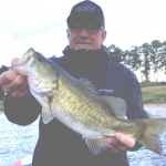 Toledo angler George Ferguson with a trophy bass that hit a wacky rig. Photo by Joe Joslin Outdoors