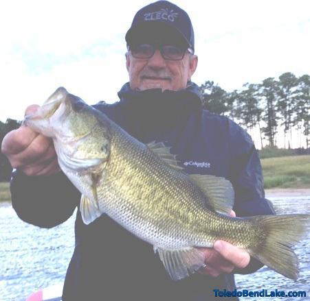 Toledo angler George Ferguson with a trophy bass that hit a wacky rig. Photo by Joe Joslin Outdoors