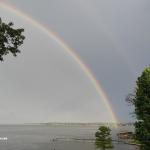 Rainbow over the lake!