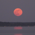 Strawberry Moon on the Lake