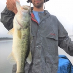 Paul Langemier caught this bass on a wacky rig